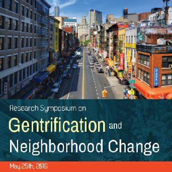 Research Symposium On Gentrification And Neighborhood