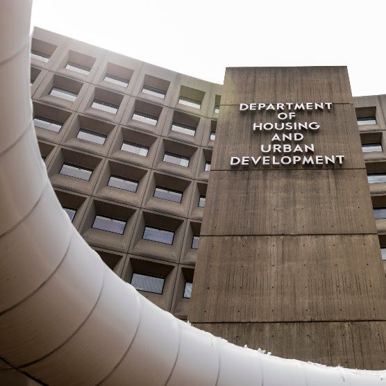 Exterior of Robert C. Weaver Federal Building, headquarters of the United States Department of Housing and Urban Development.