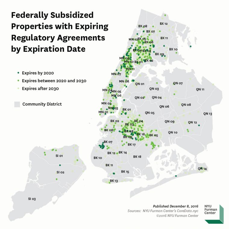 Nyc Housing Gov: The Location Of New York City's Expiring Affordable