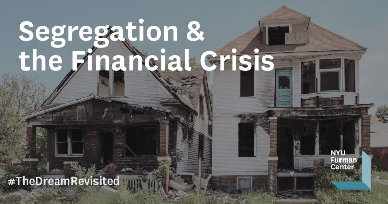 Discussion 18: Segregation & the Financial Crisis