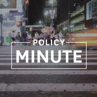 City Street with text Policy Minute