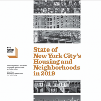 State of New York City's Housing and Neighborhoods Cover with Furman Center Logo and aerial city photos.