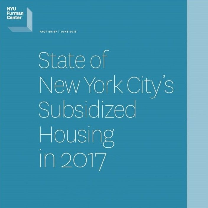 Fact Brief - June 2018 - State of New York City's Subsidized Housing in 2017
