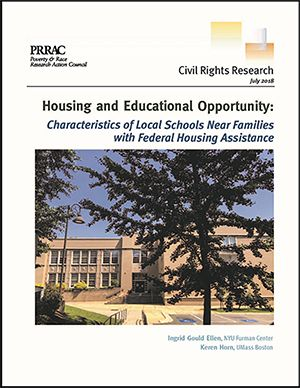Cover of Poverty & Race Research Action Council report with picture of school.