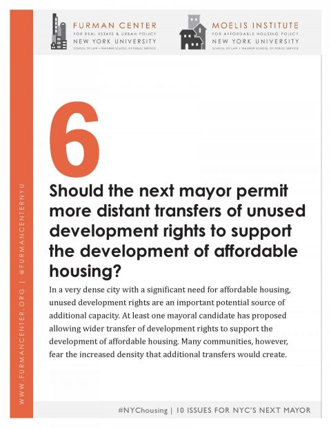 Nyc Housing 10 Issues Series 6 Transferable Development Rights