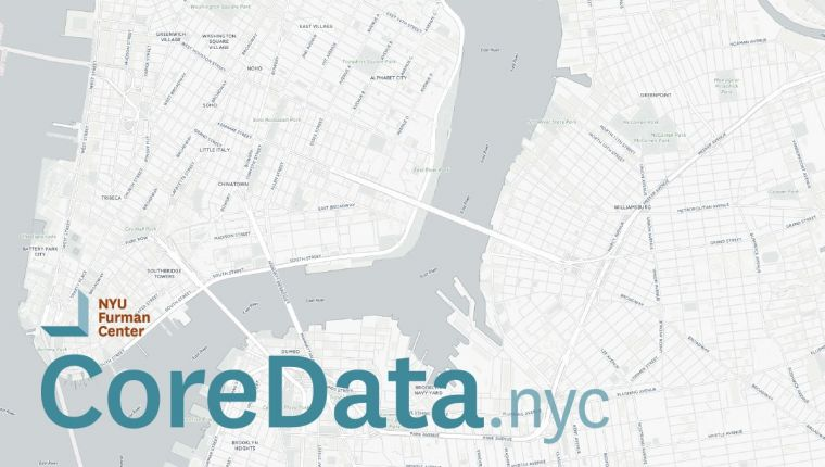 Lower Manhattan and Brooklyn with link to Coredata.nyc
