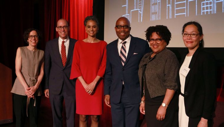 Photo of the panelists from the 2018 State of the City event